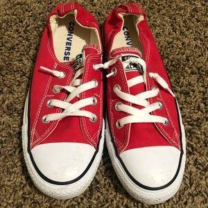 Red slip on Converse